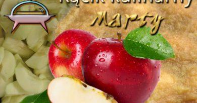 jabłkowy przysmak z cynamonem i biszkoptami
