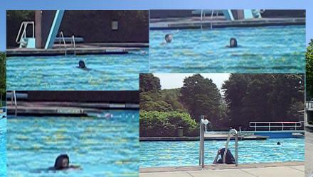 Polka muzułmanka na basenie