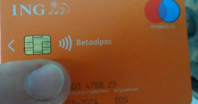 Holandia karta płatnicza limit 2020