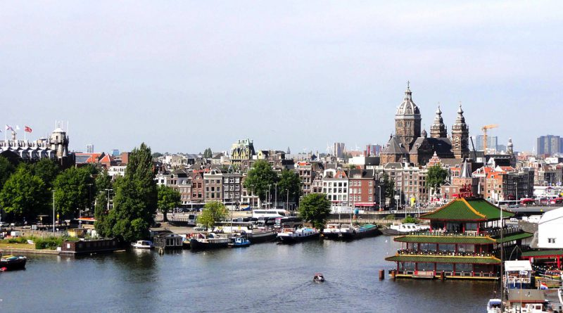 Amsterdam port Holandia 2020