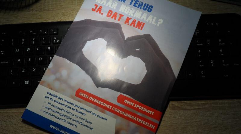 Holandia koronawirus ulotka sprzeciw wrzesień 2020