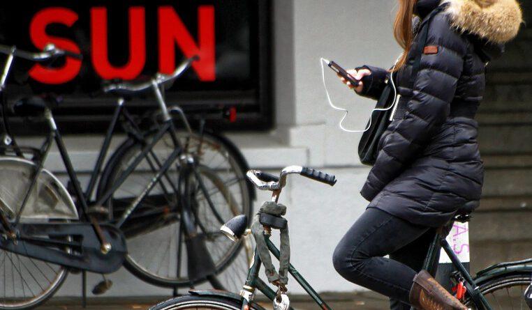 Holandia rower selfie mandat